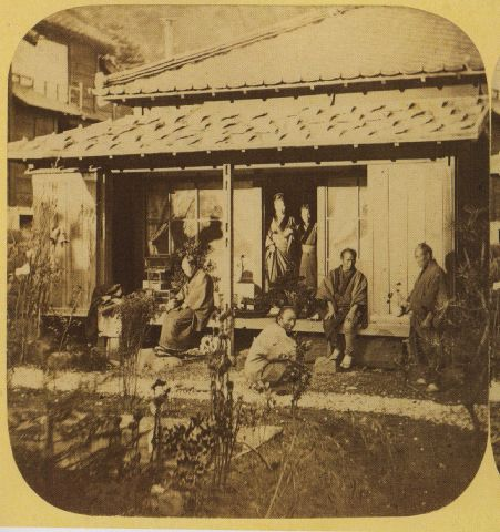 Earliest Known Photograph Of A Dwarf Potted Tree In Japan