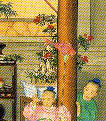 Dwarf Potted Trees In Chinese Prints